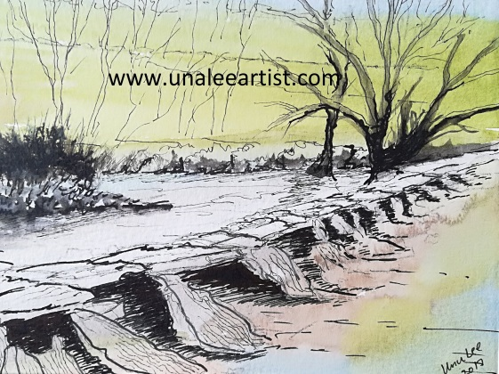 Tarr Steps watercolour