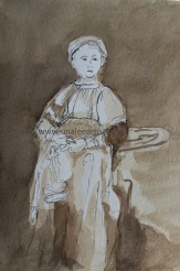 Rembrant drawing watermark
